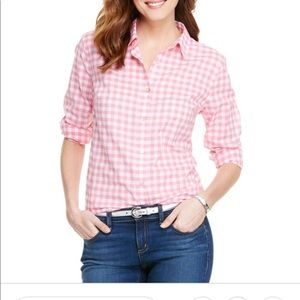 NWOT Vineyard Vines gingham button up